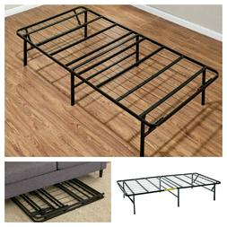 Platform Full Size Bed Frame 14 Inch Mattress Foundation Met