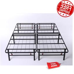 Full Size Platform Bed Frame 14 Inch Mattress Steel Foundati
