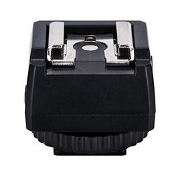 Standard Hot Shoe Adapter with Extra PC sync Connection Port
