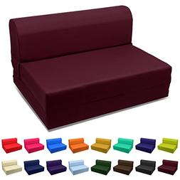 Magshion Sleeper Chair Folding Foam Bed Choose Color & Sized