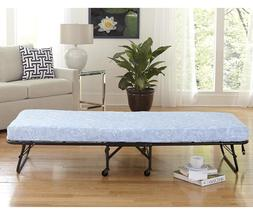 """Twin Folding Bed Cot With 5"""" Foam Mattress Portable Guest Ro"""