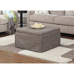 Pemberly Row Twin Folding Bed Ottoman in Taupe