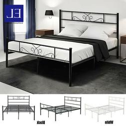 Twin Full Queen Size Metal Bed Frame Mattress Foundation w/
