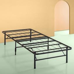 Twin Size Bed Frame 14 Inch High Metal Mattress Stand Fold B