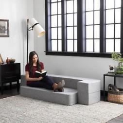 Twin Size Convertible Folding 8 in Mattress Sofa Guest Bed L