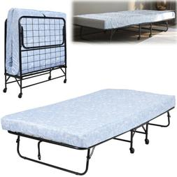 TWIN SIZE ROLLAWAY FOLDING Metal Bed Frame Guest Bedroom Fur